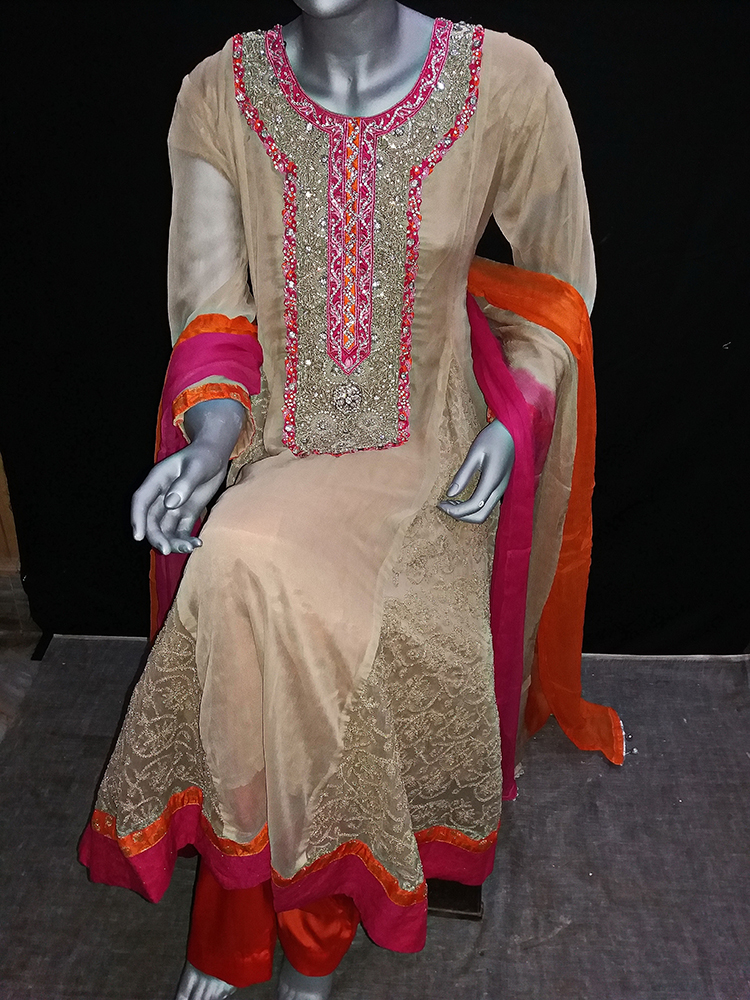 fdd77bcd42 Skin Color Embroidery Pakistani Party Dress. Return to Previous Page. Sale!  prev